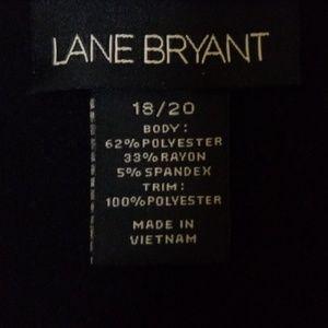 Lane Bryant Tops - LANE BRYANT NWOT BLACK SHIRT W/ ACCENTED NECKLINE